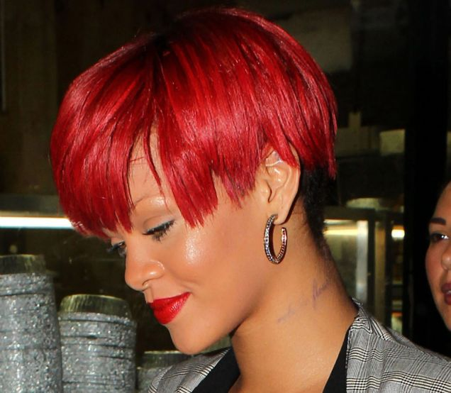 rihanna hair red afro. rihanna afro red. Red Hair