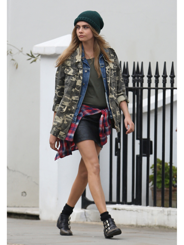 Cara Delevingne is a Grunge Fashion-ista