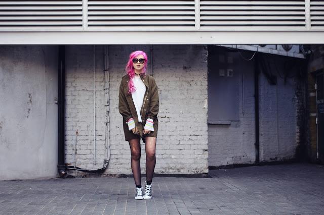Amy Valentine wearing UNIF Jacket & Jumper